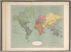 Colombian World Map of 1889