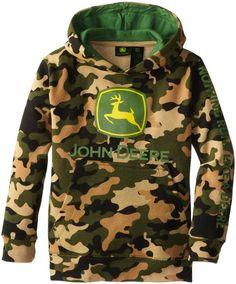 John Deere Little Boys' Large Trademark Pullover Fleece Hoodie John Deere Kids, Fleece Hoodie, Pullover, Kids Hats, Hoodies, Sweatshirts, Little Boys, Canada Goose Jackets, Camo