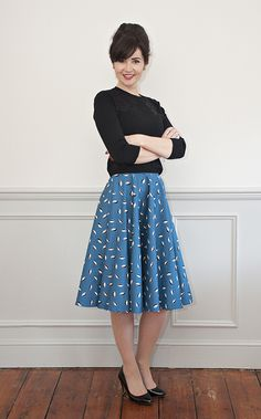 Full Circle Skirt sewing pattern - velvet and wool for winter, cotton for summer. Pattern, embroidery