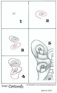 Zentangle  espiral volumen                                                                                                                                                                                 Más