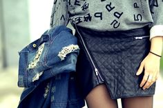 Outfit: Leather loves denim