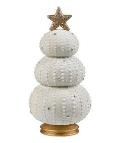 Sea Urchin Crafts for Toddlers | Sea Urchin Christmas Tree Figurine by Grasslands Road on #zulily