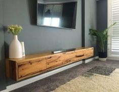 Entertainment unit floating design units for sale perth wa television shelf Wall Mounted Entertainment Unit, Entertainment Center Makeover, Diy Entertainment Center, Floating Tv Unit, Living Room Furniture, Perth, Netflix, The Unit, Entertaining