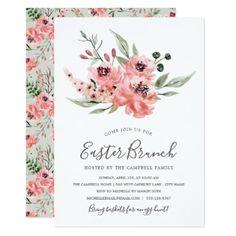 #pink - #Wistful | Easter Brunch Invitation