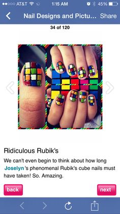 Rubies cube nails. My fave :)