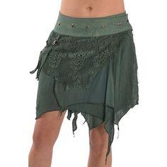 Steampunk Skirt Pixie Skirt Elf Skirt Gypsie Skirt Goa Skirt Mfskar