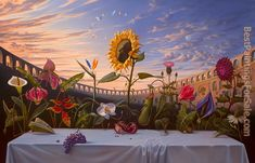 Vladimir Kush - Last Supper Painting