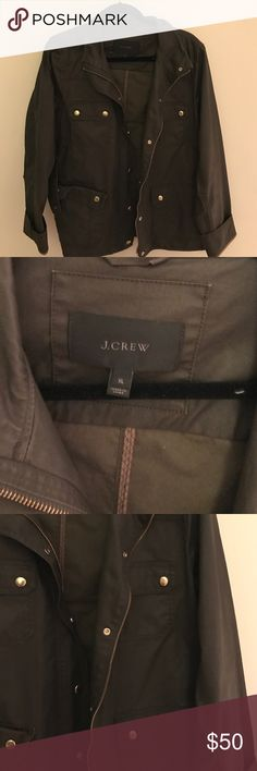 J. Crew Factory Utility Jacket Excellent used condition! Army green, pet free and smoke free home J. Crew Jackets & Coats Utility Jackets