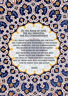 The opening ~Al Fatiha~