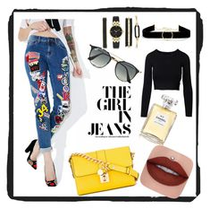 """""""Untitled #4"""" by lejlaam95 ❤ liked on Polyvore featuring Dolce&Gabbana, Ray-Ban, Anissa Kermiche, Anne Klein and Chanel"""