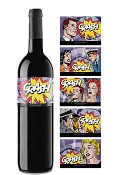 Crash, Bodega Pago los Balancines. Comic book #packaging for all our wine loving peeps. PD