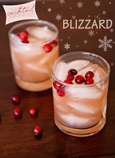 A festive, #HolidayCocktail, The Blizzard { #bourbon, #cranberry juice, lemon and simple syrup}. // TheSpeckledPalate.com