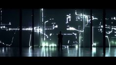 Fragile Territories is a #laser and #sound #installation by Robert Henke. Complex visual shapes - 30 meter wall - four laser beams. Sounds - transformed recordings of a piano. run on 3 mac-mini comps.