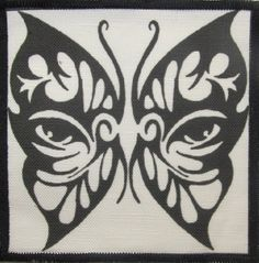perfect for face painting Tribal Butterfly, Black White Art, Black Thread, Sew On Patches, Tribal Tattoos, Cotton Canvas, I Tattoo, Art Quotes, Baby Shower Gifts