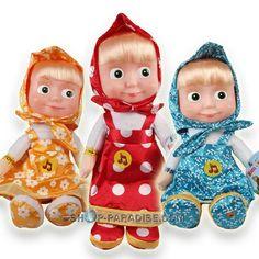 Plüschspielzeug aus TV Trickfilm Mascha und der Bär. Puppe aus Mascha i Medved