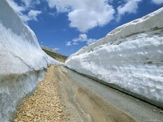 Spring Snow on Road Crossing the Mount Lebanon Range Near Bcharre, Lebanon, Middle East
