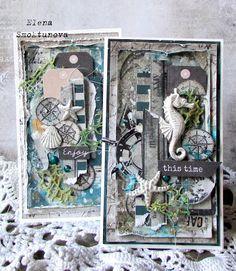 Handmade by Elena Smoktunova: Морские открытки и небольшое объявление по курсам