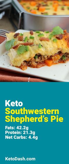 Trying this Southwestern Shepherd's Pie and it is delicious. What a great keto recipe. #keto #ketorecipes #lowcarb #lowcarbrecipes #healthyeating #healthyrecipes #diabeticfriendly #lowcarbdiet #ketodiet #ketogenicdiet