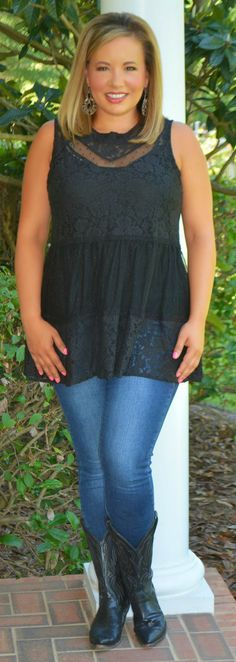 Meet Me At Midnight Tank - Perfectly Priscilla Boutique