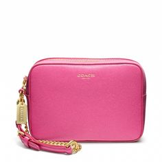 The Coach Flight Wristlet in Saffiano Leather: match it with our BCRF products (20% from the purchase of BCRF products is donated to The Breast Cancer Research Foundation®), which you can shop at Coach.com all October.