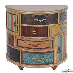 Mueble oval rustico