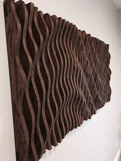 Wood Wall Art Parametric Sculpture Wood Sculpture Modenr Modern Sculpture, Wood Sculpture, Wall Sculptures, Sculpture Ideas, Plywood Walls, Oak Plywood, Wooden Wall Art, Wooden Walls, Wall Wood