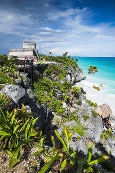 Tome un baño increíble en el océano y contemplar las ruinas mayas en Tulum , México