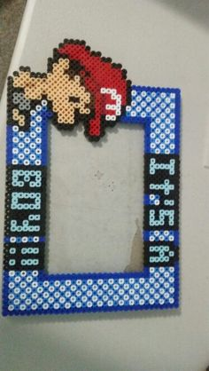 Super Mario baby Mario perler beads picture frame 4x6 inch viewable frame