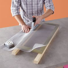 DIY Deck Patio Privacy Screens: Love this Lowe's tutorial that allows you to enjoy your patio more fully! You'll install these screen panels back to back in pairs. Fasten the screening by using the PowerShot Forward Action Staple Gun & Nailer (5700) shown in the picture or by pulling out your HT50 Professional Hammer Tacker. Arrow Tip: Pick the straightest lumber available for this DIY. www.arrowfastener.com