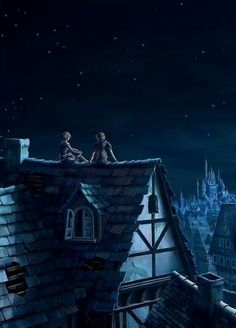 I used to do this with my very first girlfriend. Sit on the roof watching stars and talking the night away.