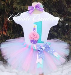 Tiffany Blue and Pink--3D Cupcake--Baby Girl 1st Birthday Tutu Set--Party Outfit-- Photo Prop on Etsy, $69.38 AUD