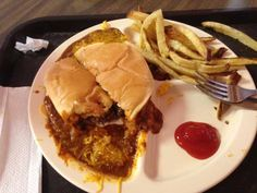 The often favored Chili Cheseburger from Permian Basin Hamburger Co. Downtown, #Odessa.