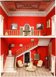 doll house (very striking red entrance from Tara's Palace.)
