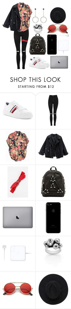 """Only this once"" by cherrysick ❤ liked on Polyvore featuring Tommy Hilfiger, Topshop, Urban Renewal, UNIF, Meadowlark and ZeroUV"