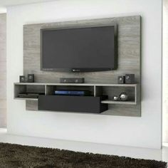 50 Cool TV Stand Designs for Your Home  tv stand ideas diy, tv stand ideas for living room, tv stand ideas bedroom, tv stand ideas black, tv stand ideas repurposed, tv stand ideas ikea, tv stand ideas corner. #tvstand #tvstandideas #LEDTV #BestLEDTV Tv Unit For Bedroom, Bedroom Tv Wall, Bedroom Tv Unit Design, Bedroom Tv Stand, Bedroom Designs, Tv On The Wall Ideas, Wall Units For Tv, Tv On Wall, Wall Mounted Tv Unit
