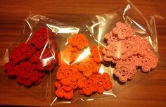 Crochet flower Crochet Flowers, Desserts, Handmade, Food, Crocheted Flowers, Tailgate Desserts, Hand Made, Meal, Deserts