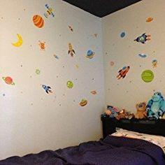 Super Space Explorer Decorative Peel & Stick Wall Art Sticker Decals