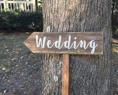 Hochzeit Zeichen Holz Pfeilzeichen Hochzeit von BarnwoodRustDesigns
