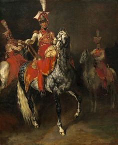 https://flic.kr/p/hgH1yj   Mounted Trumpeters of Napoleon's Imperial Guard   1813/1814. Oil on canvas. 60,4 x 49,6 cm. National Gallery of Art, Washington. 1972.25.1.