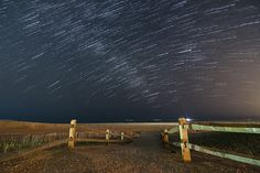 Star trails and a hint of the milky way over Ocean City, NJ.
