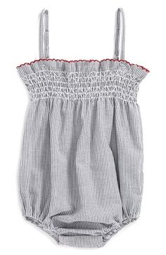 egg by susan lazar Seersucker Bubble Romper (Baby Girls) available at #Nordstrom