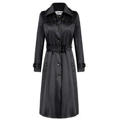 ACEVOG Brand X-Long Maxi Long Trench Coat Women OL Ladies Long Sleeve Single Breasted Autumn Winter Trench Windbreaker Outerwear PLUS SIZE