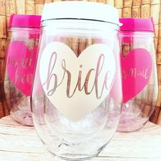 Bachelorette Party Favors Bride Tribe Wine by MelissasHomeDecor Diy Wedding, Wedding Favors, Gatsby Wedding, Dream Wedding, Wedding Ideas, Bachelorette Weekend, Bachelorette Parties, Bachelorette Party Decorations, Personalized Tumblers