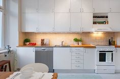 Swedish White Kitchen Interior Design and Decor