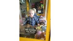 Another Idiot Kid Gets Stuck in a Claw Machine