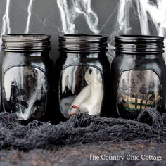 Mason Jar Haunted House Craft