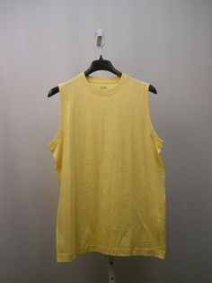 SIZE L Sport Mens Muscle T-Shirt ROUNDTREE & YORKE 100% Cotton Solid Yellow    #RoundtreeYorkeSport #BasicTee
