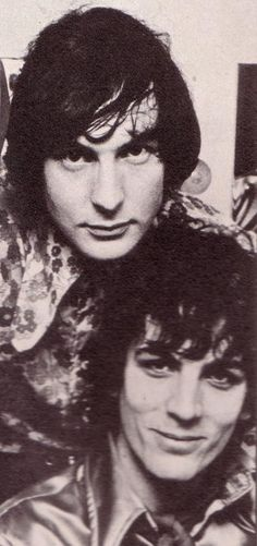 Syd Barrett and Nick Mason of Pink Floyd. | Click the image to join the Laughing Madcaps Syd Barrett Group, now on Facebook.