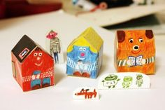 Paper houses by Mogu Takahashi.