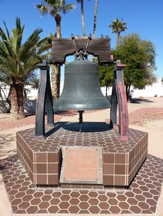 Replica of Liberty Bell in Sun City, AZ Sun City, Liberty, Arizona, Travel, Political Freedom, Viajes, Freedom, Destinations, Traveling